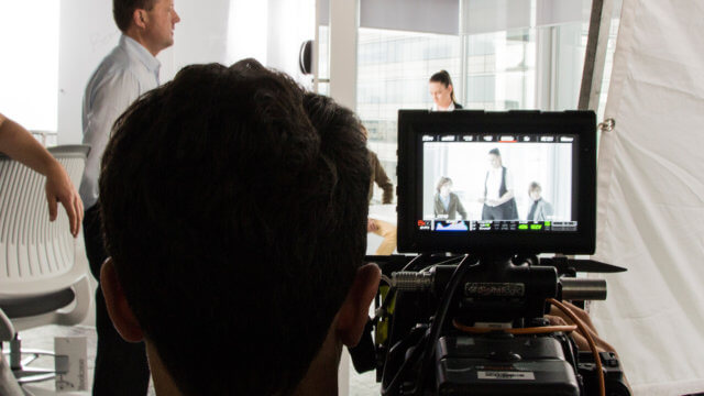 Behind the scenes filming of the Westpac Innovation Hub.