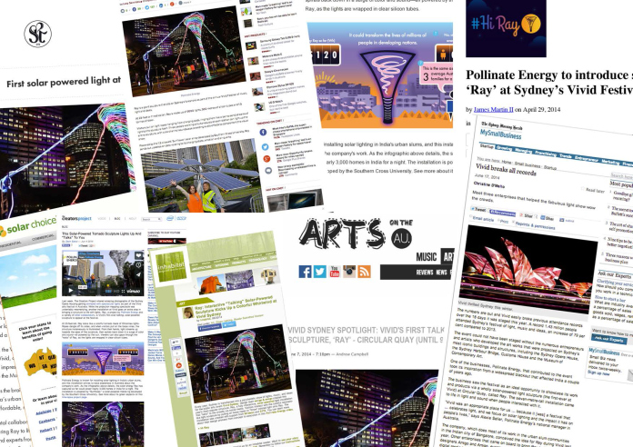 Vivid Ray News Article collage