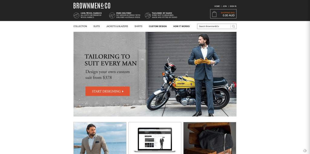 BrownMen&Co newly designed webpage