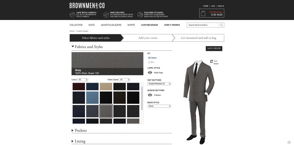 BrownMen&Co Custom Design Webpage