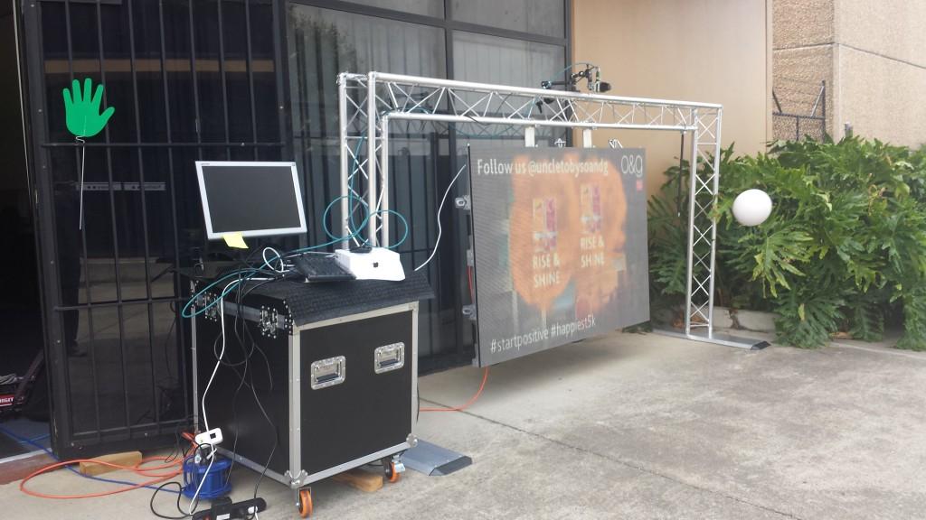 2D Laser creative technology set up