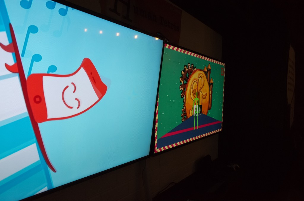 Experiential games on TV using Sensor Technology controls