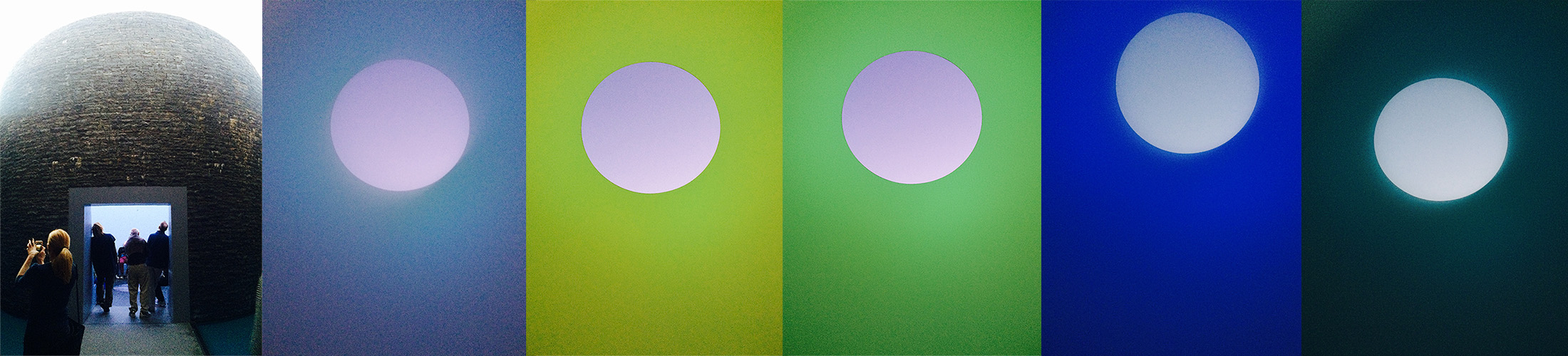 James Turrell Skyspace (Inside) collage
