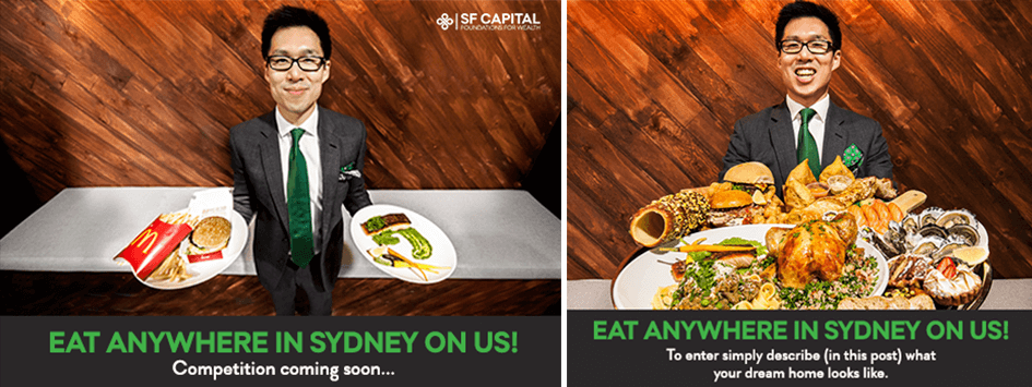 SF Capital Eat Anywhere On Us Social Campaign