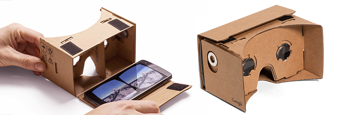 Google cardboard Virtual Reality headsets