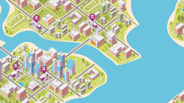 Animated Map of Creative City.