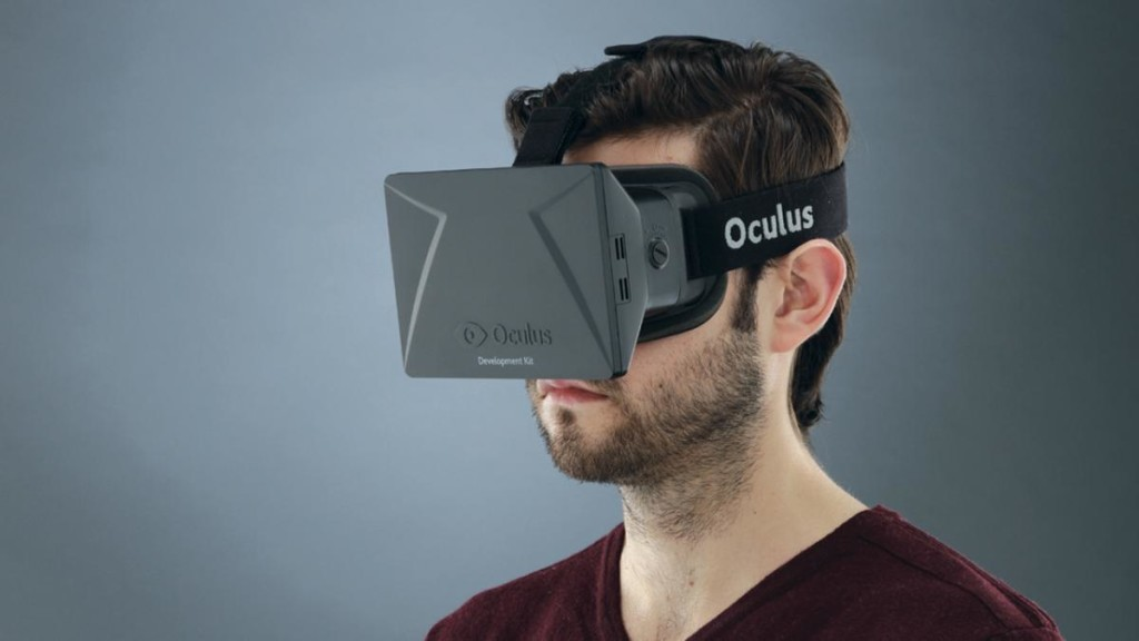 Person wearing Oculus Rift Development Kit