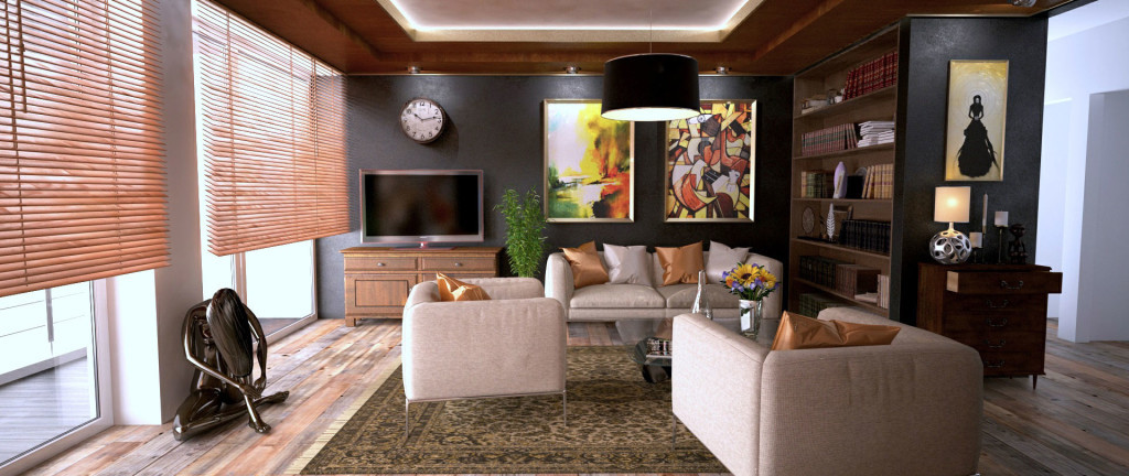 Living Room with creative interior design elements