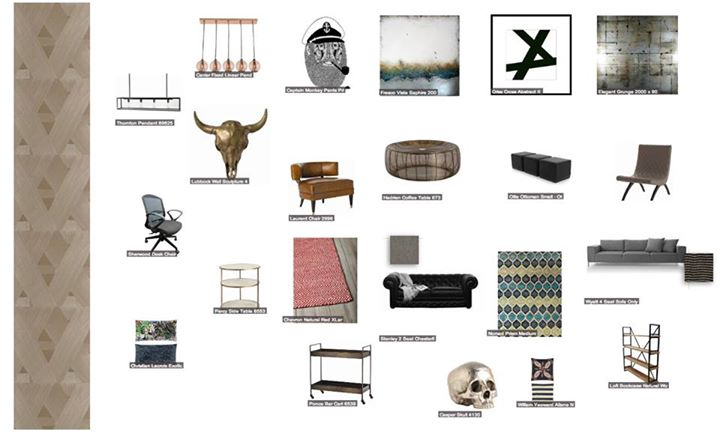 Interior Design Moon board with various resources