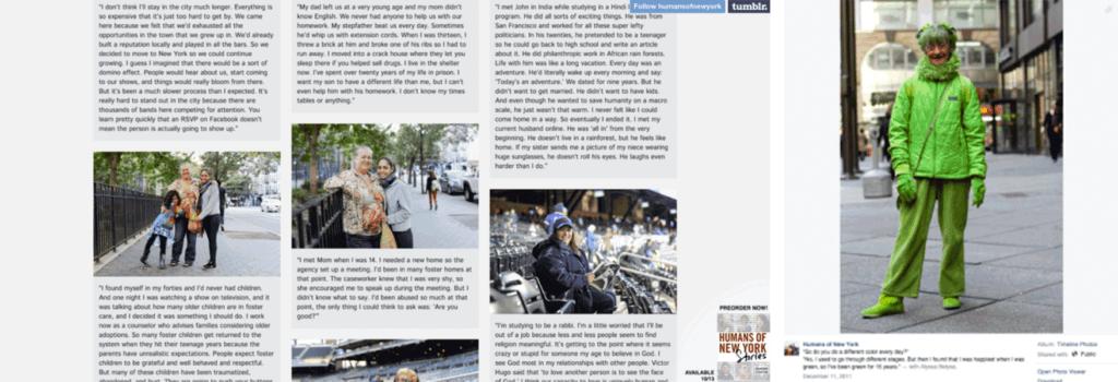Humans Of New York Website and Alyssa Belyea