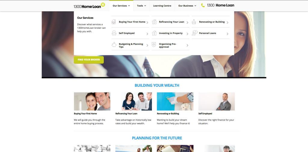 New Website design for 1300HomeLoan