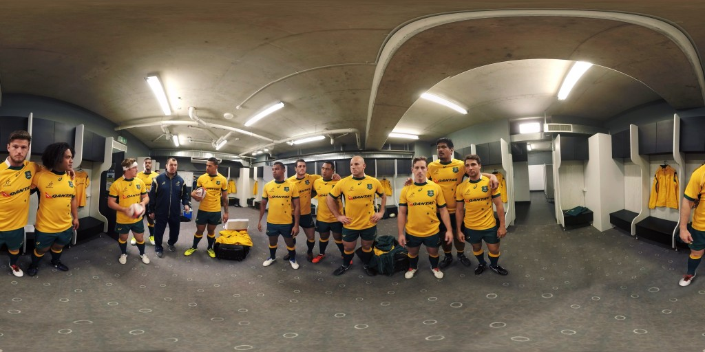 HSBC Wallabies in Locker Room in Live Action Virtual Reality
