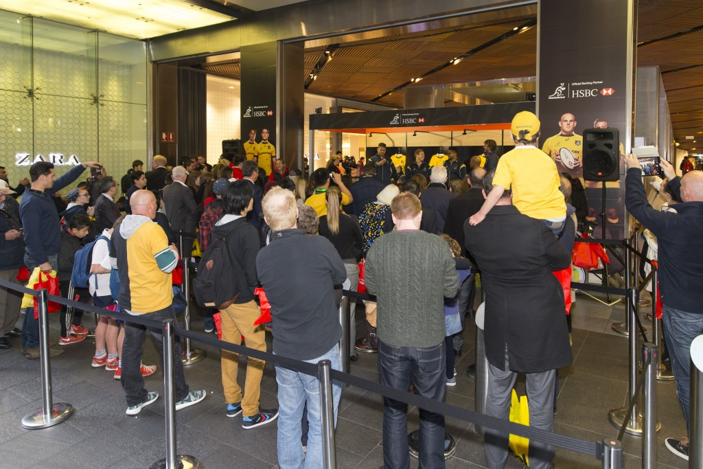 HSBC Wallabies Virtual Reality video exhibition at Westfield Sydney