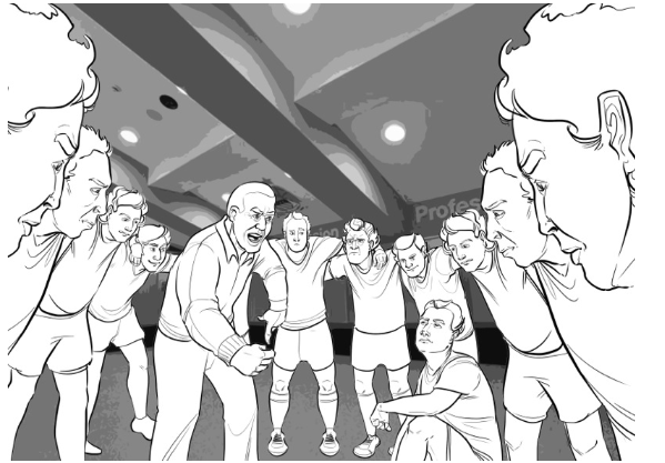 Animated storyboard for HSBC Wallabies Virtual Reality
