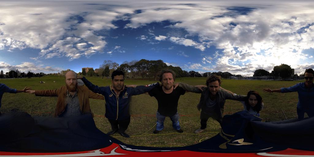 Virtual Reality camera stitching test