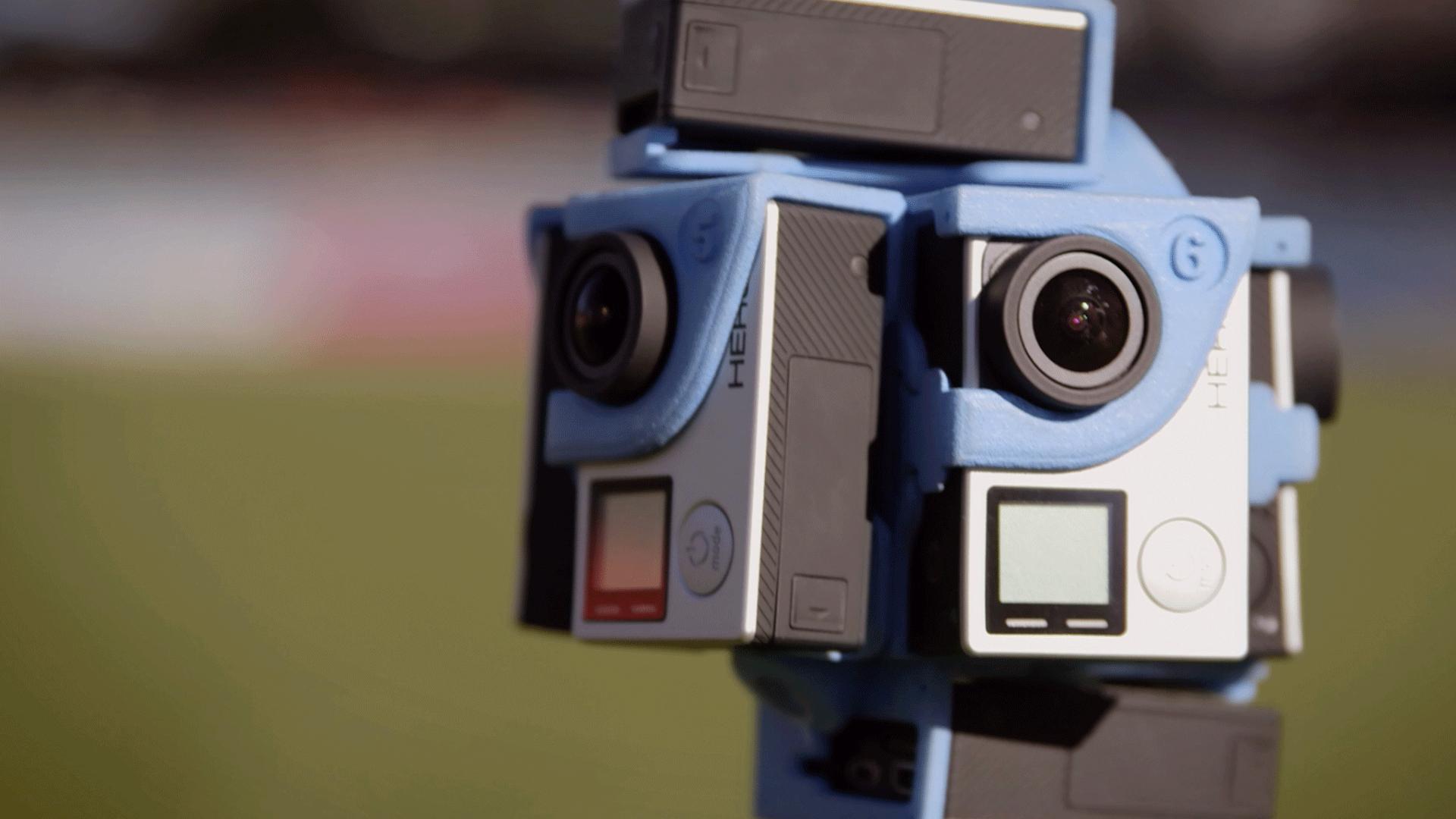 GoPro 360 Heroes camera rig