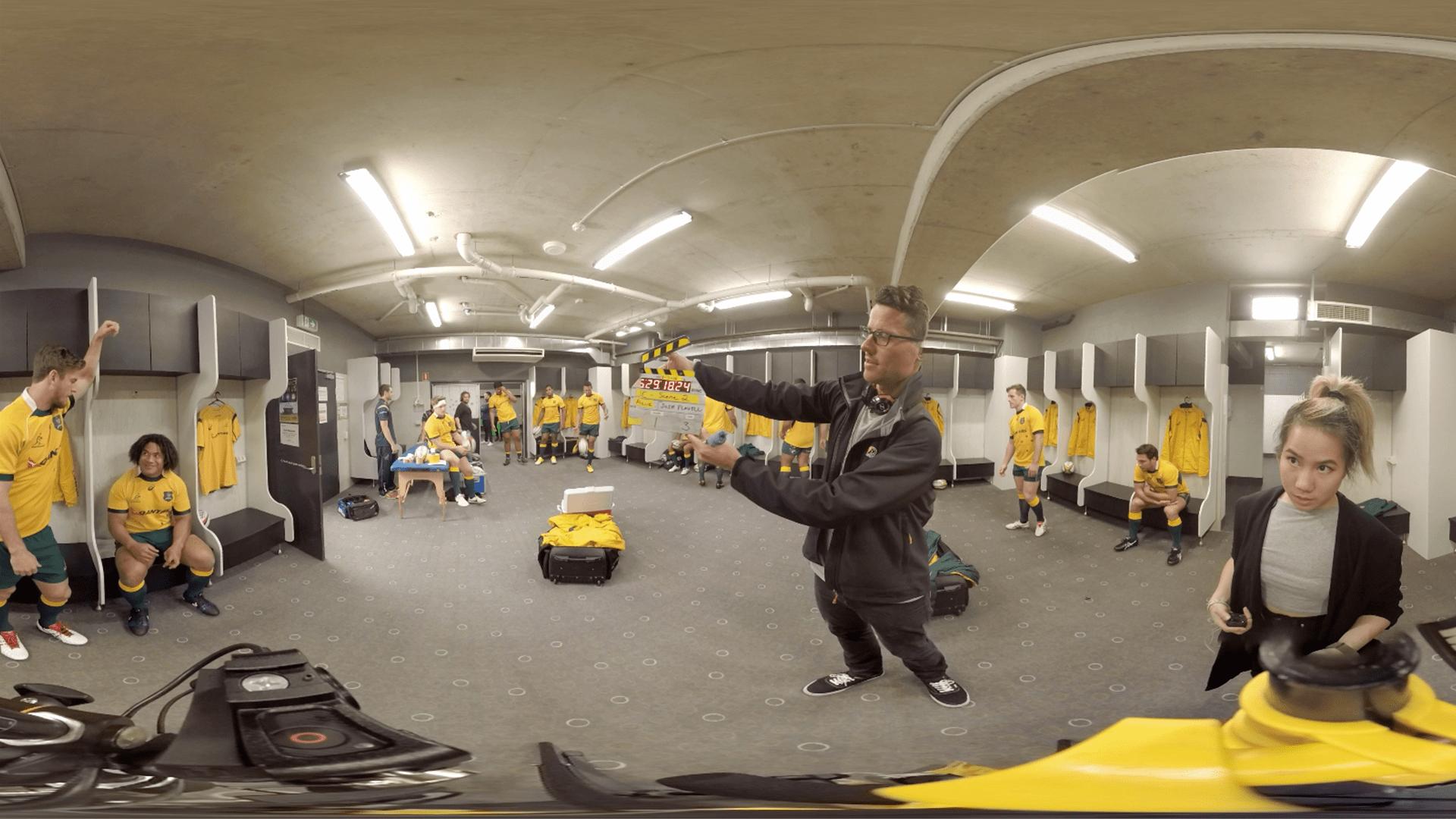 HSBC Wallabies Locker Room Scene in Virtual Reality