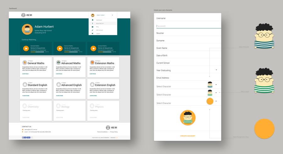 HSC101 online web design layouts