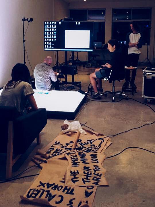S1T2 Team working on Interactive floor