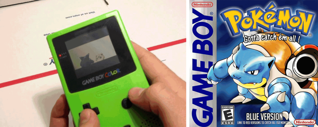 Pokemon Blue on Game Boy Color