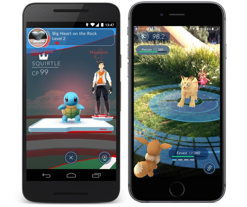 Pokemon GO App on Android and iPhone