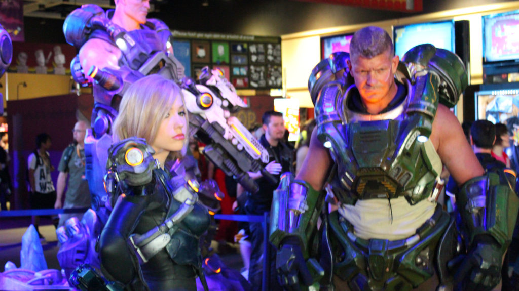 Cosplayers participating at PAX