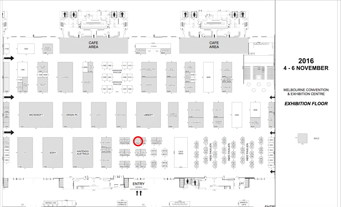 Map of Melbourne Convention Centre showcasing KEPT VR