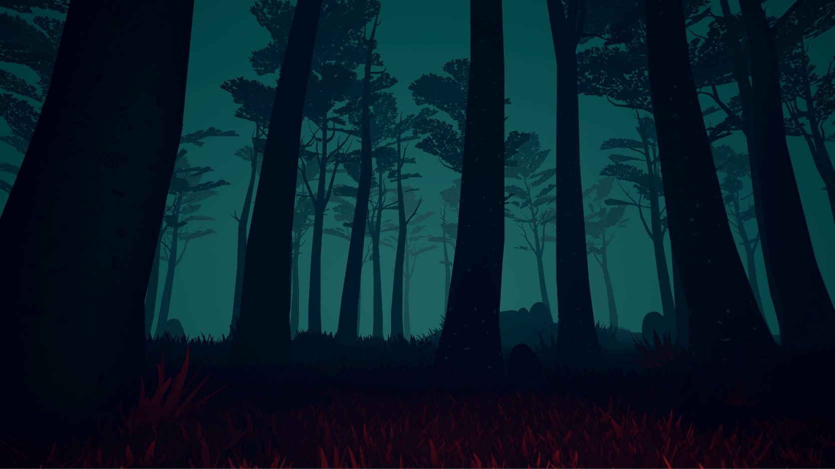 Gloomy forest in KEPT Virtual Reality