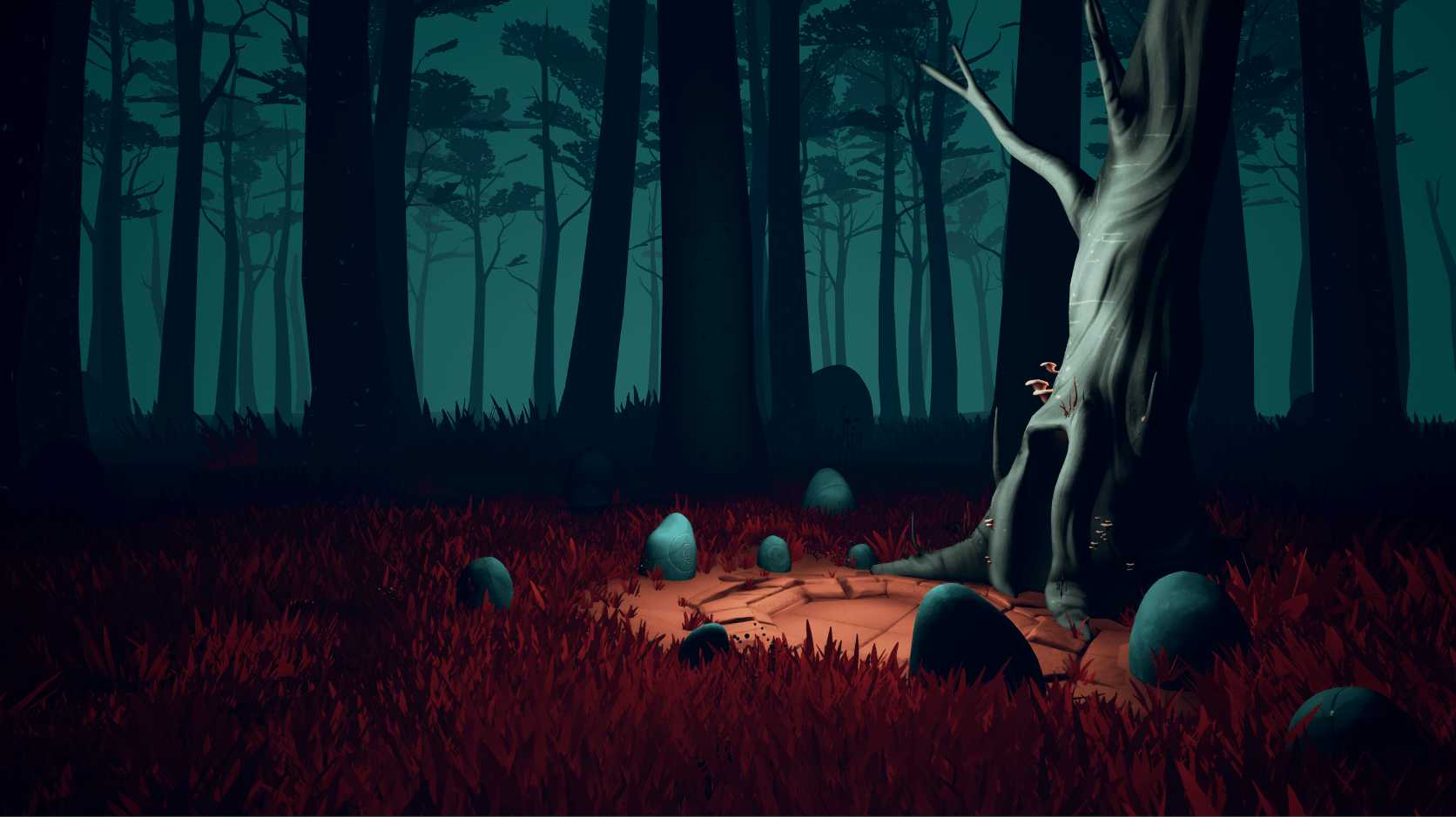 Forest landscape in KEPT Virtual Reality