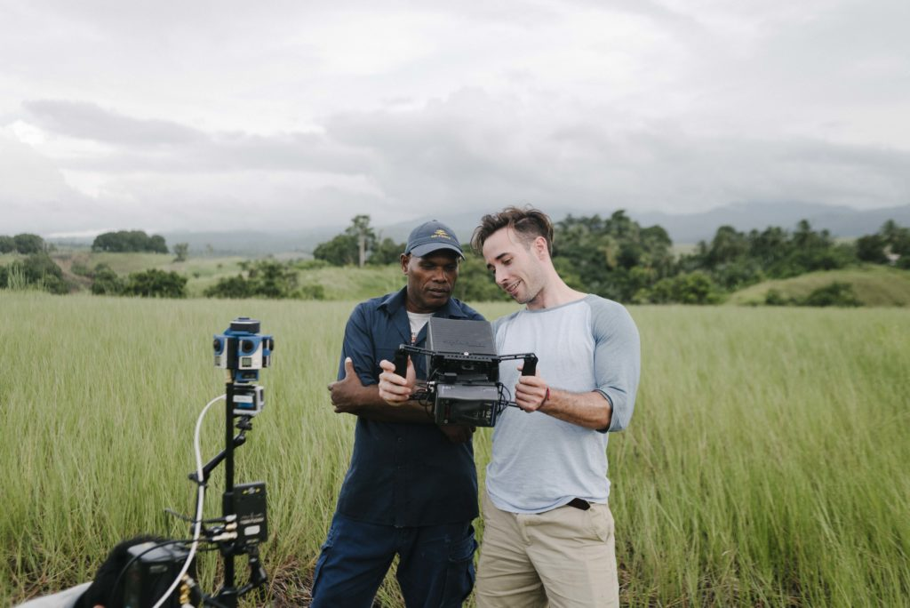 Virtual Reality team shooting in the Solomon Islands