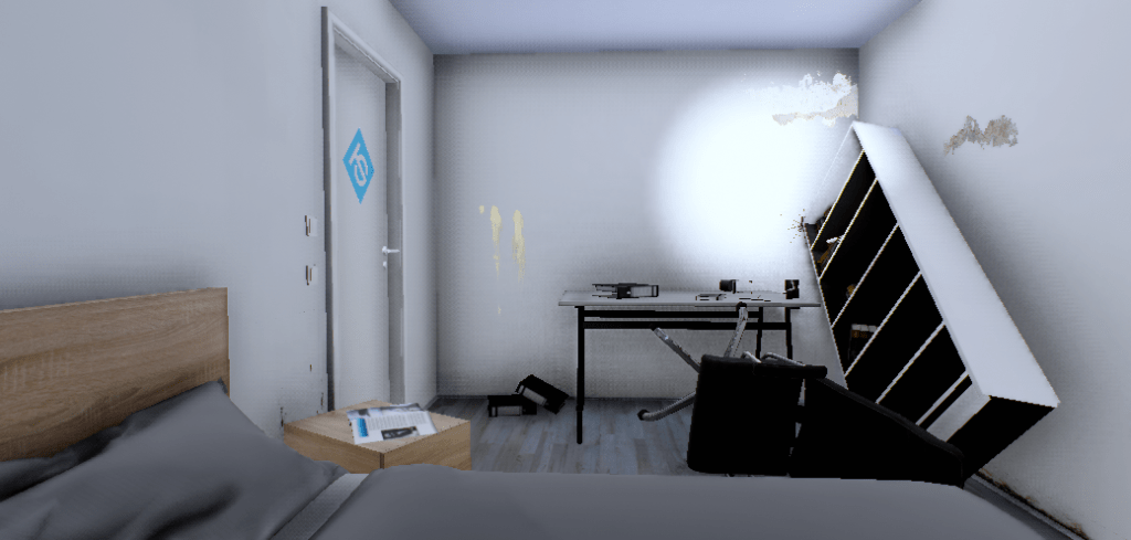 Trashed Room in Terri Scheer Virtual Reality
