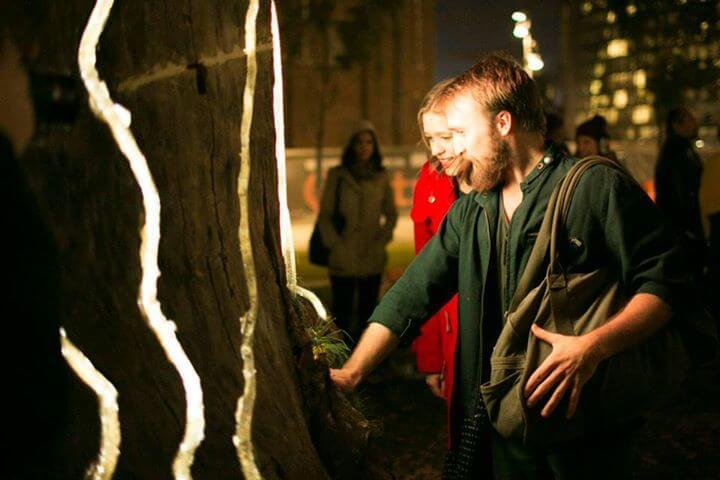 Adobe Heart Tree interactive light experience