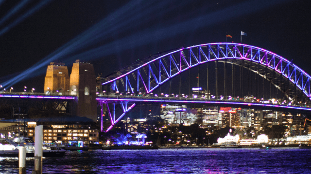 Sydney Harbour Bridge Interactive Installations Vivid Festival.