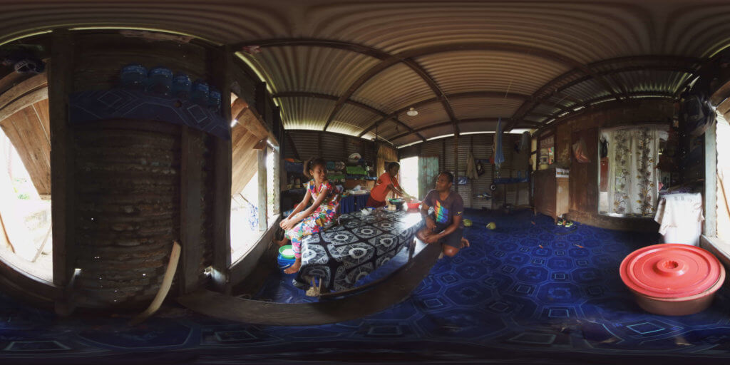 360 virtual reality takes audiences inside a home in Vunisavisai, Fiji for COP23
