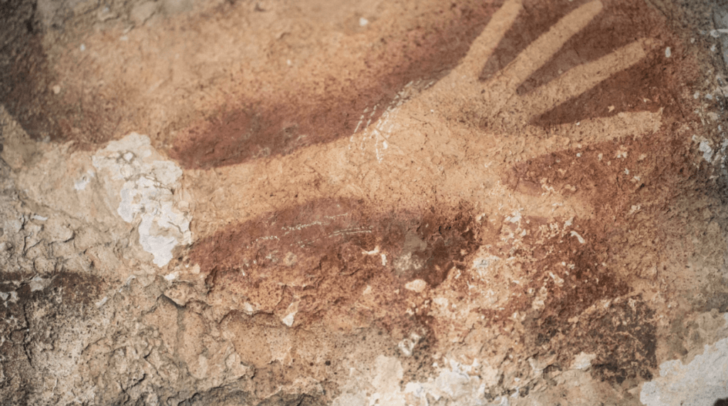 Ancient human handprints on cave walls among our earliest signs of creativity