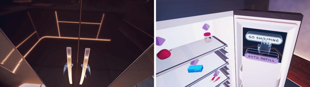 The fridge in Future of Retail VR