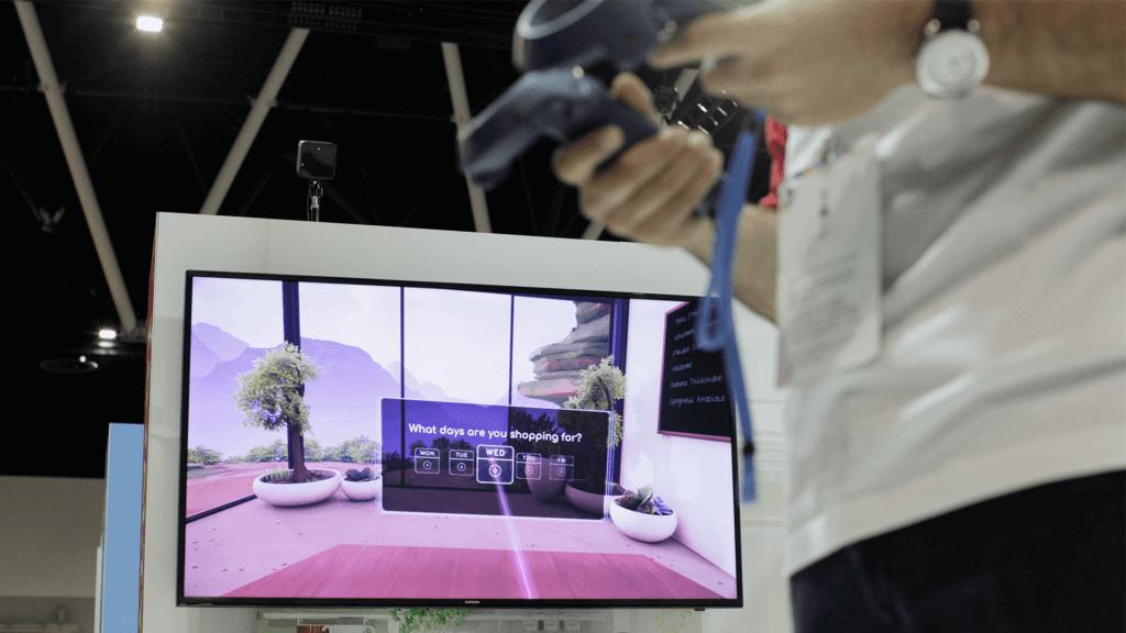 Man plays Future of Retail VR at 2018 Adobe Symposium