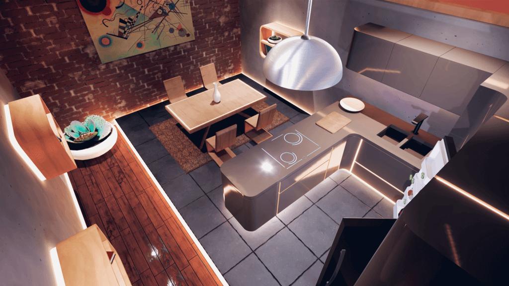 Futuristic apartment in Future of Retail VR