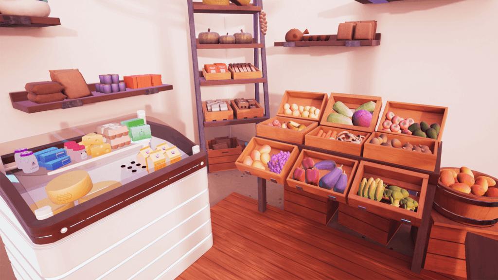 Futuristic, deli-like virtual supermarket in Future of Retail VR