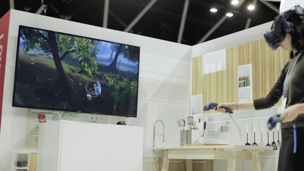 Woman explores the mango farm in Future of Retail VR