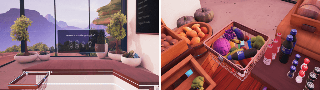 Virtual reality supermarket created for Adobe Make It 2019