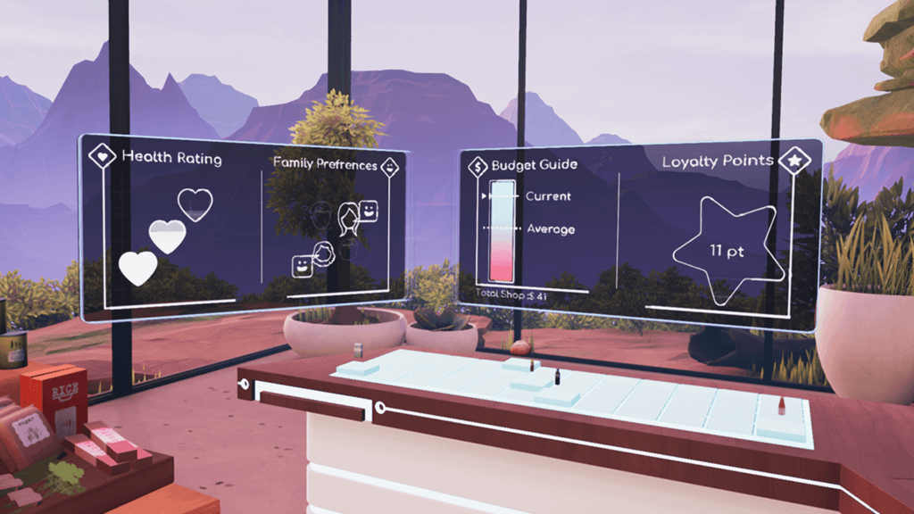 Holographic data visualisations in Future of Retail VR
