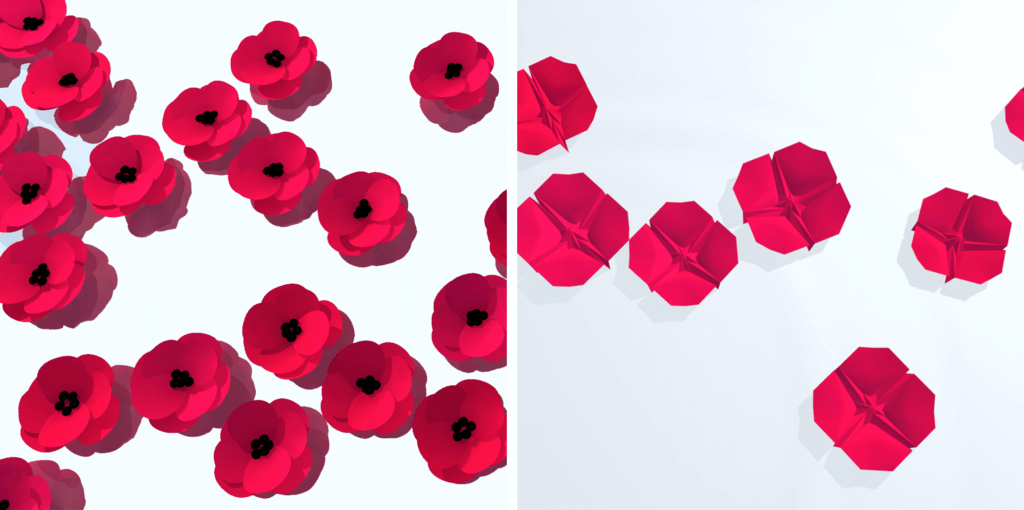 Two poppy concepts for Queensland Remembers website