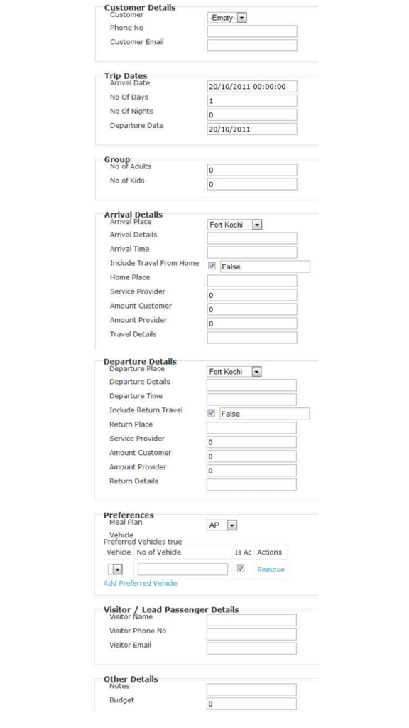 Example of too long web form