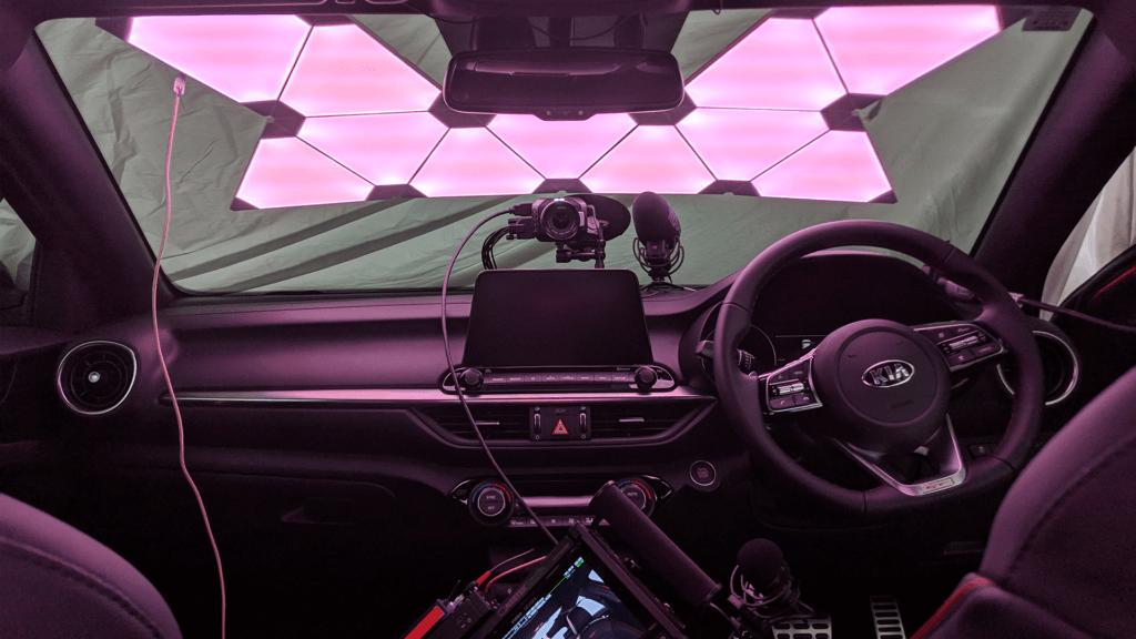 Testing Nanoleaf lights for the Kia Caraoke Experience