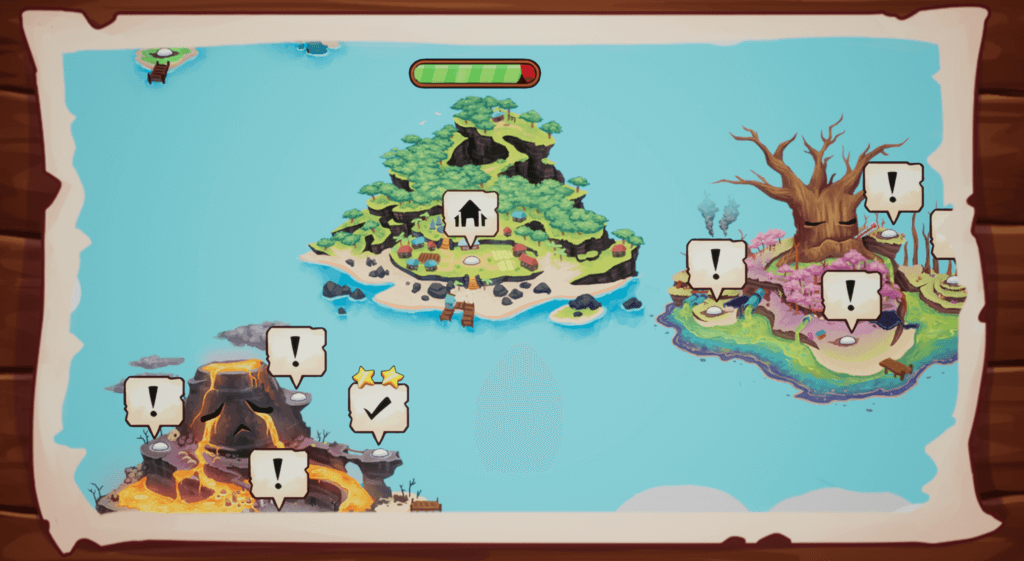 Screenshot of magical islands from Beyond the Stars Mobile game