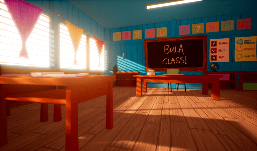 Fijian classroom in virtual reality for Beyond the Stars VR