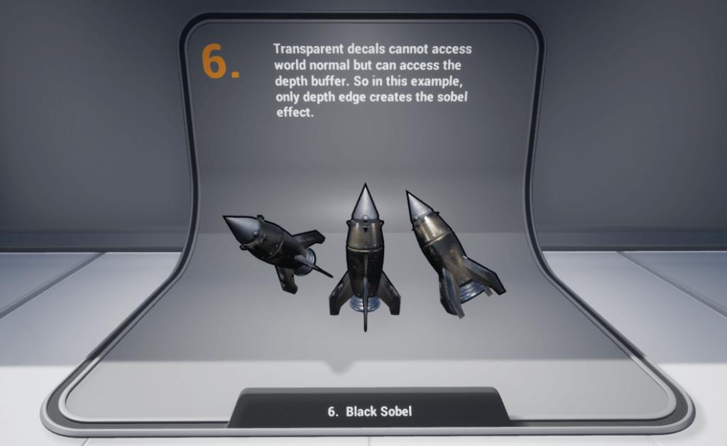 Black edges using transparent decals