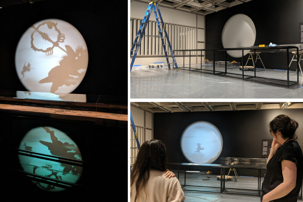The making of S1T2's circular double-sided projection with Art Gallery of NSW for Japan Supernatural