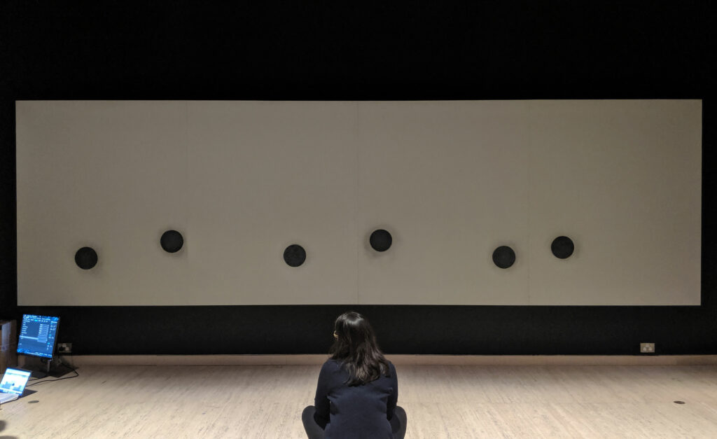 During bump in for the interactive touch wall at the Art Gallery of NSW Japan Supernatural